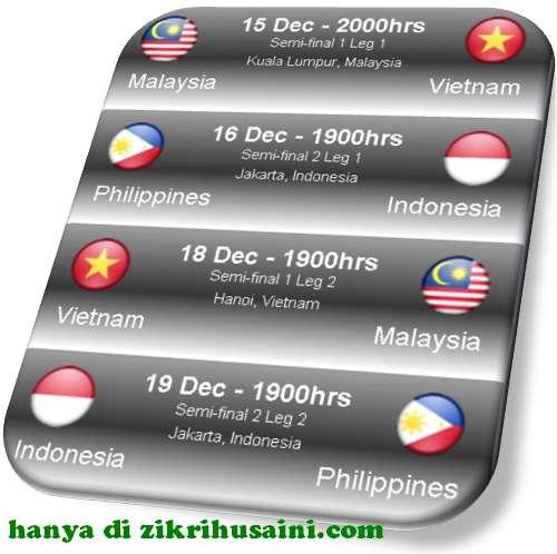 jadual perlawanan, jadual perlawanan separuh akhir malaysia vs vietnam, jadual piala aff suzuki 2010, piala suzuki 2010, jadual perlawanan piala suzuki 2010, jadual malaysia menentang vietnam, jadual separuh akhir piala suzuki 2010