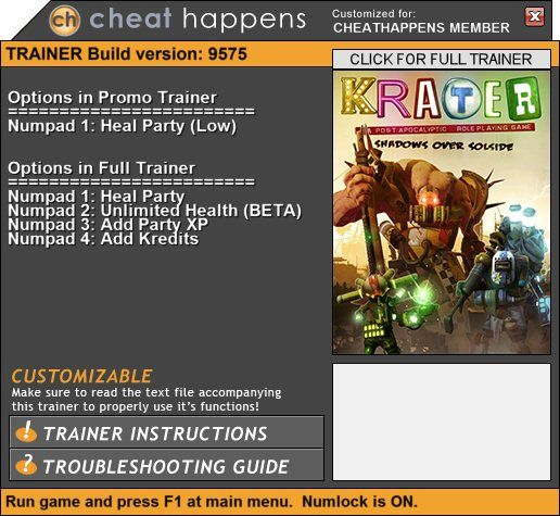 1Krater Trainer